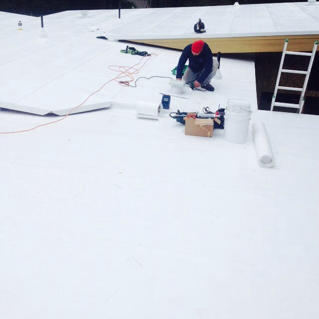 TPO surface flat roof
